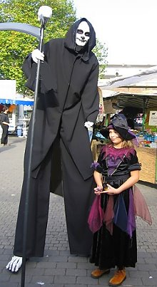 Angiani Halloween Erntedankfest Geister Monster Skelett Auf